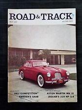 Road & Track May 1957 Aston Martin MK III - Jaguar - Triumph TR-3 - Alfa Romeo