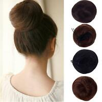 8 Colors Girl Hair Bun Cover Ponytail Hairpiece Clip in Synthetic Extensions J24