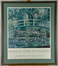 Monet's Years at Giverny Metropolitan Museum of Art VTG 1978 Exhibition Poster