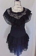 Black Dress Small Unusual Gothic Black Lace Everywhere Kitty Brand Steampunk NWT