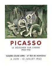 Pablo Picasso Lithograph Poster Le Dejeuner sur L' Herbe Limited Mourlot 1962