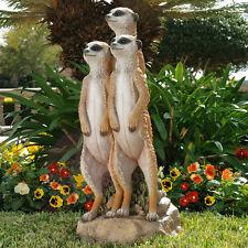 Meerkat Meercat African Safari Theme Wild Animal Garden Statue Sculpture Decor