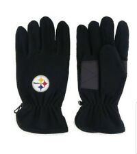 Pittsburgh Steelers Leather Grip Fleece Gloves new NFL