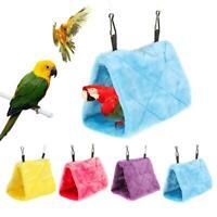 Pet Bird Parrot Parakeet Warm Hammock Cage Hut Tent Bed Hanging Cave House