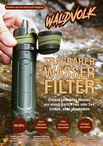 🍁 Waldvolk Wasserfilter Outdoor Virus Bakterien Prepper Wasseraufbereitung