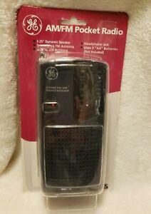Vintage GE 2-Band FM AM Pocket Radio Receiver 7-2584S Portable Travel Music