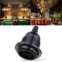 E27 Black Lamp Holder Socket for Light Ceiling Pendant Hanging Industrial