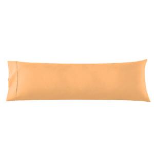 Body Pillowcase - 1 Microfiber Pillow Case -Body Pillow Size 20x54, Light Orange
