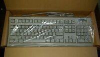 Vintage HP Terminal Keyboard SK-2502 Wired PS2 White C4732-60201 Hewlett Packard