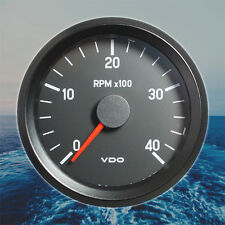 "VDO Rev-Counter Tachometer Gauge 4000 RPM 80mm 3.1"" 24V  333-045-002C"