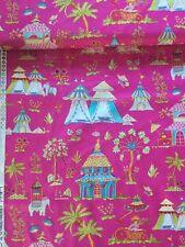 Patchworkstoff Baumwolle Free Pink Dena Haute Girls Palast Indien 202 Toile Zelt