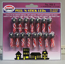 MODEL POWER LED PEEL 'N STICK LIGHTS 15 pc 3V RESISTOR train MPW 5111 NEW