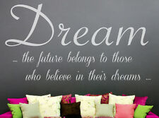 Dream, bedroom,  wall art vinyl decal sticker