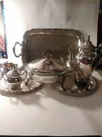 Antique Oneida Silver Plated Tea/Coffee serveware.  Serving Set Lot.of 7