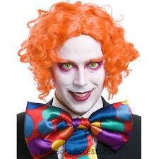 W387 Orange Mad Hatter Costume Wig Eyebrows Set Johnny Depp Alice in Wonderland