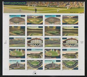 #3519a Legendary Baseball Fields 34c Sheet of 20, No Faults;  CV $18