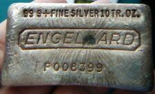 Engelhard 10 oz Silver Bar .999 fine Vintage Design #1535