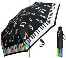 "44"" Arc Color-Changing Piano Keys Music Auto-Auto Mini Umbrella-RainStoppers"