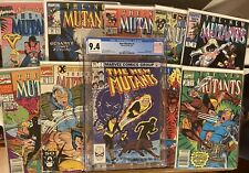 NEW MUTANTS ~ Lot of 10 Books Between #1-97 With CGC Graded Book! 🔥 🔑 🔥