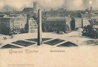 MUNCHEN – Karolinenplatz Gruss Aus Munchen – Munich – Germany - udb (pre 1908)