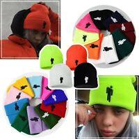 New Fashion Stickman Billie Eilish Winter Warm Knitted Unisex Hip Hop Beanie Hat