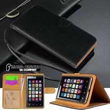 Black Magnetic Flip Cover Stand Wallet Leather Case for Various Lenovo Phones