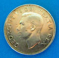 1952 Canada 50 Cents Coin George VI Silver Very Good Condition