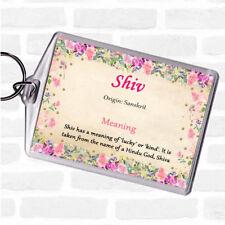 Etiqueta de nombre significado Bolsa Shiv LLAVERO KEYRING Floral