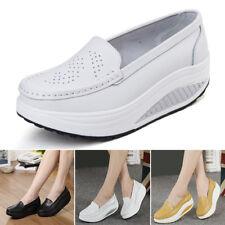 Women Ladies High Platform Shoes Shape Ups Toning Fitness Walking Sport Sneakers