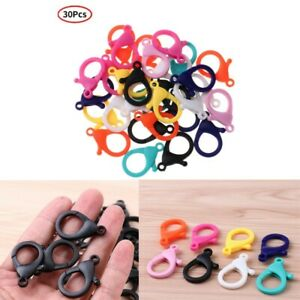 30 Lobster Clasps Clip Buckle Plastic Snap Hooks for Camping Key Chain Jewelry