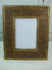 "Ornate Gold Brown Color Picture Frame Easel Back 11 3/4"" x 9 3/4"""