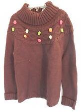 NWT girls Gymboree brown Knit sweater top turtleneck long sleeves M (7-8)