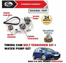 FOR VW GOLF 2.0 FSI 150BHP AWX 2003-2008 TIMING CAM BELT KIT + WATER PUMP SET