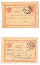 AT20 1899 roumanie carte postale x2 * Piatra * paris france {samwells couvre -} pts