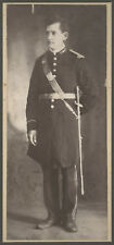 Antique Picture Cabinet Card Masonic Odd fellows IOOF Man Sword Military Photo