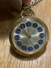 Vintage Endura Harloger Du Roy Swiss Made Necklace Pocket Watch