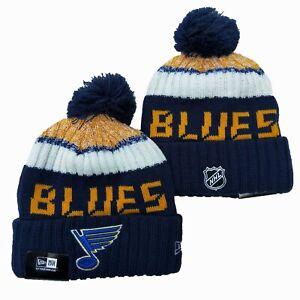 St. Louis Blues New Era Beanie NHL Hat Cap Knit Adult Size