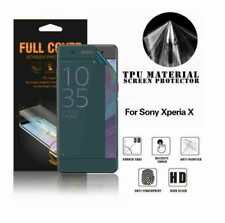 Full Coverage Screen Protector For Sony Xperia X Phone TPU Cover Clear Film UK