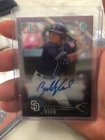 "2016 Bowman Chrome Draft BUDDY REED ""Purple Refractor"" Rookie Auto #D 210/250!"