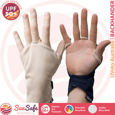 Backhander Back of the Hand Glove UVeto Australia UPF 50+ Fishing Cycling Hiking