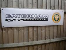 Caterham Motorsport Banner pvc sign, Workshop Garage sign superlight seven 16v