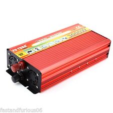 Inversor 3000W Solar Car Power Inverter DC 12V a AC 220V Convertidor Sine Wave