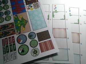 Mini journal kit, Christmas, Notebook, scrapbook, junk journal, craft, gift