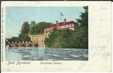 Ansichtskarte - Bad Pyrmont - Fürstliches Schloss - Lithographie 1901 - selten