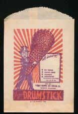 FROZEN DRUMSTICK Original 1946 Unused Ice Cream Cone Snack Bag POLAR Detroit NOS