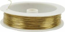 Gold Coloured Brass Wire Jewellery Beading Tiaras Extra Long Roll 70m x 0.3mm