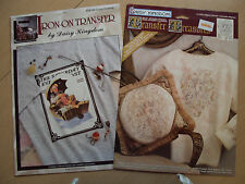 Daisy Kingdom Iron On Transfer #06116 Gone Fishing & #12303 Filigree Cherub