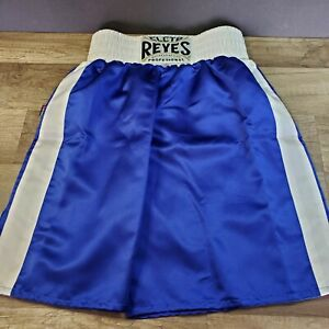 Cleto Reyes Professional Boxing Trunks 100% Polyester XS Mens Blue & White