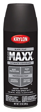 Krylon K09147000 COVERMAXX Spray Paint, Flat Black, 12 Ounce