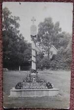 1924 Finchingfield War Memorial + Message About Flower Display Postcard Essex